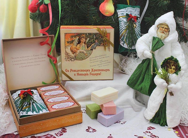 Подарочная коробка Съ Рождествомъ Христовымъ и Новымъ Годомъ!